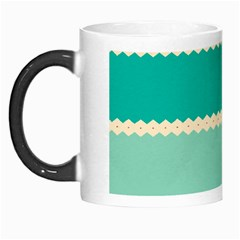Rhombus And Retro Colors Stripes Pattern Morph Mug