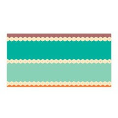 Rhombus And Retro Colors Stripes Pattern Satin Wrap