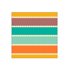 Rhombus And Retro Colors Stripes Pattern Satin Bandana Scarf