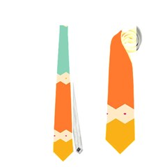 Rhombus And Retro Colors Stripes Pattern Necktie