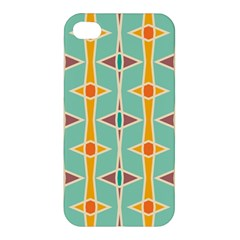 Rhombus Pattern In Retro Colors 			apple Iphone 4/4s Premium Hardshell Case by LalyLauraFLM