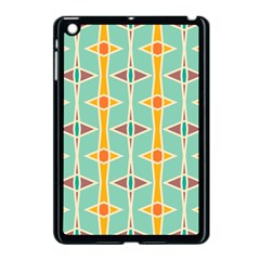 Rhombus Pattern In Retro Colors 			apple Ipad Mini Case (black) by LalyLauraFLM