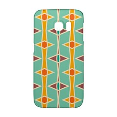 Rhombus Pattern In Retro Colors 			samsung Galaxy S6 Edge Hardshell Case