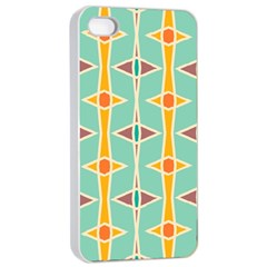 Rhombus Pattern In Retro Colors 			apple Iphone 4/4s Seamless Case (white) by LalyLauraFLM