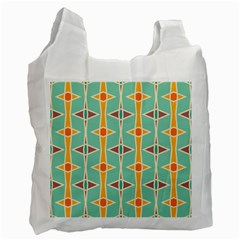 Rhombus Pattern In Retro Colors  Recycle Bag by LalyLauraFLM