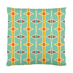 Rhombus Pattern In Retro Colors  	standard Cushion Case (two Sides) by LalyLauraFLM