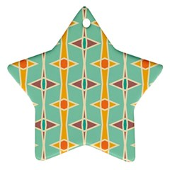 Rhombus Pattern In Retro Colors 			ornament (star) by LalyLauraFLM