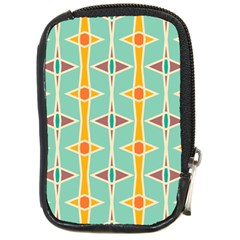 Rhombus Pattern In Retro Colors 			compact Camera Leather Case by LalyLauraFLM