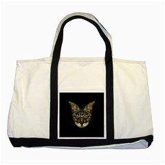 Angry Cyborg Cat Two Tone Tote Bag  by dflcprints