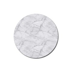 White Marble 2 Rubber Coaster (round)  by ArgosPhotography