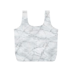 White Marble 2 Full Print Recycle Bags (s)  by ArgosPhotography