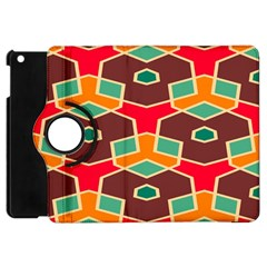 Distorted Shapes In Retro Colors			apple Ipad Mini Flip 360 Case by LalyLauraFLM