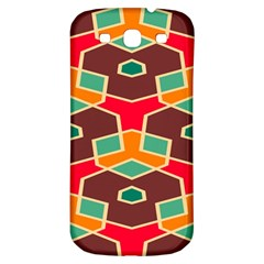 Distorted Shapes In Retro Colors			samsung Galaxy S3 S Iii Classic Hardshell Back Case by LalyLauraFLM