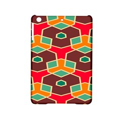 Distorted Shapes In Retro Colors			apple Ipad Mini 2 Hardshell Case by LalyLauraFLM