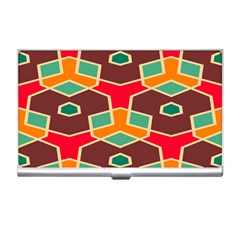 Distorted Shapes In Retro Colors			business Card Holder by LalyLauraFLM