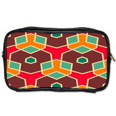 Distorted Shapes In Retro Colors			toiletries Bag (one Side) by LalyLauraFLM