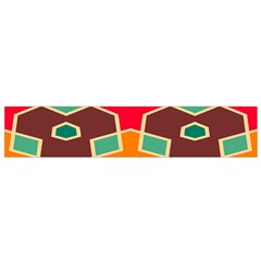 Distorted Shapes In Retro Colors Flano Scarf by LalyLauraFLM