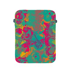 Fading Circles			apple Ipad 2/3/4 Protective Soft Case by LalyLauraFLM
