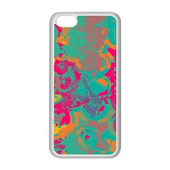 Fading Circles			apple Iphone 5c Seamless Case (white) by LalyLauraFLM