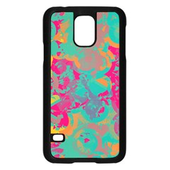 Fading Circles			samsung Galaxy S5 Case (black) by LalyLauraFLM
