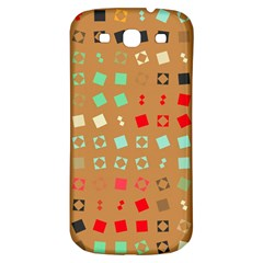 Squares On A Brown Background			samsung Galaxy S3 S Iii Classic Hardshell Back Case by LalyLauraFLM