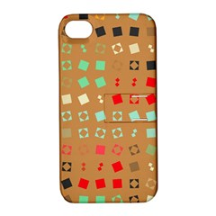 Squares On A Brown Background			apple Iphone 4/4s Hardshell Case With Stand by LalyLauraFLM
