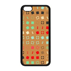 Squares On A Brown Background			apple Iphone 5c Seamless Case (black) by LalyLauraFLM