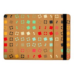 Squares On A Brown Background			samsung Galaxy Tab Pro 10 1  Flip Case by LalyLauraFLM