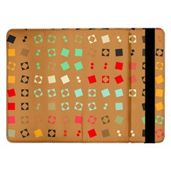 Squares On A Brown Background			samsung Galaxy Tab Pro 12 2  Flip Case by LalyLauraFLM
