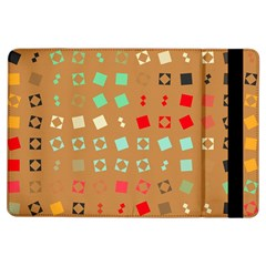 Squares On A Brown Background			apple Ipad Air Flip Case by LalyLauraFLM
