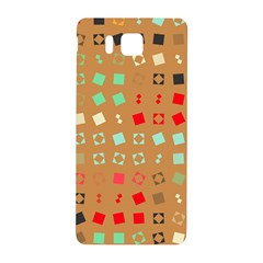 Squares On A Brown Background			samsung Galaxy Alpha Hardshell Back Case by LalyLauraFLM