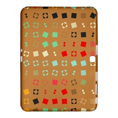 Squares On A Brown Background			samsung Galaxy Tab 4 (10 1 ) Hardshell Case by LalyLauraFLM