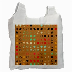 Squares On A Brown Background Recycle Bag