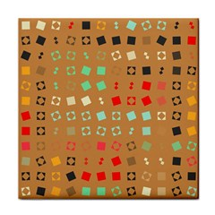 Squares On A Brown Background			tile Coaster by LalyLauraFLM