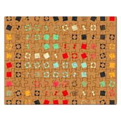 Squares On A Brown Background			jigsaw Puzzle (rectangular) by LalyLauraFLM
