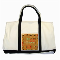 Squares On A Brown Background			two Tone Tote Bag by LalyLauraFLM