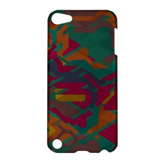 Geometric Shapes In Retro Colors			apple Ipod Touch 5 Hardshell Case by LalyLauraFLM