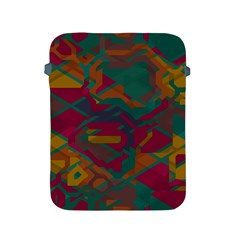 Geometric Shapes In Retro Colors			apple Ipad 2/3/4 Protective Soft Case by LalyLauraFLM