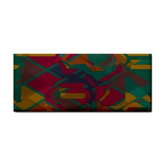 Geometric Shapes In Retro Colors			hand Towel by LalyLauraFLM