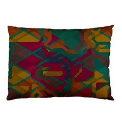 Geometric Shapes In Retro Colors			pillow Case