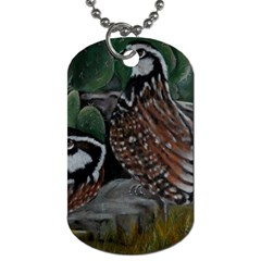 Bobwhite Quails Dog Tag (one Side) by timelessartoncanvas