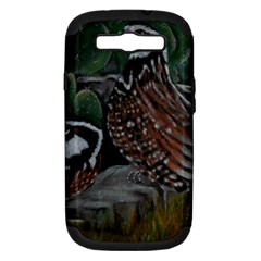 Bobwhite Quails Samsung Galaxy S Iii Hardshell Case (pc+silicone) by timelessartoncanvas