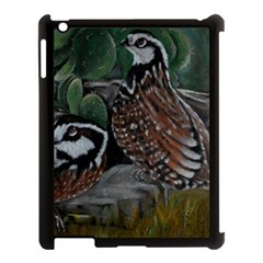 Bobwhite Quails Apple Ipad 3/4 Case (black) by timelessartoncanvas