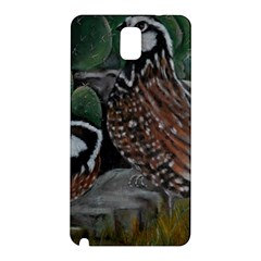 Bobwhite Quails Samsung Galaxy Note 3 N9005 Hardshell Back Case by timelessartoncanvas