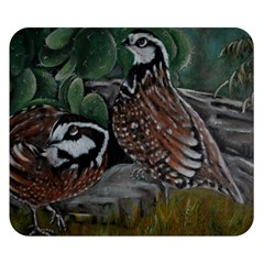 Bobwhite Quails Double Sided Flano Blanket (small)  by timelessartoncanvas