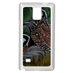 Bobwhite Quails Samsung Galaxy Note 4 Case (white) by timelessartoncanvas