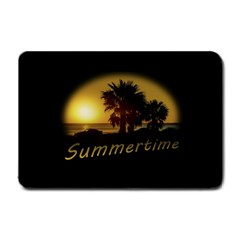 Sunset Scene At The Coast Of Montevideo Uruguay Small Doormat  by dflcprints