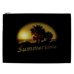 Sunset Scene At The Coast Of Montevideo Uruguay Cosmetic Bag (xxl)  by dflcprints