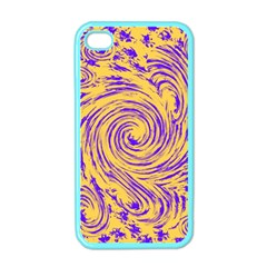 Purple And Orange Swirling Design Apple Iphone 4 Case (color) by JDDesigns
