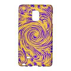Purple And Orange Swirling Design Galaxy Note Edge by JDDesigns